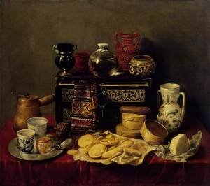 Reproduction oil paintings - Antonio de Pereda - Still-Life with an Ebony Chest