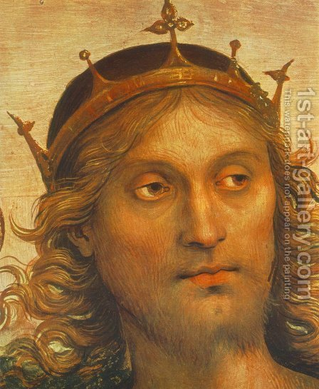 The Almighty with Prophets and Sybils (detail) 2 by Alvaro Di Pietro (Pirez D'Évora) - Reproduction Oil Painting