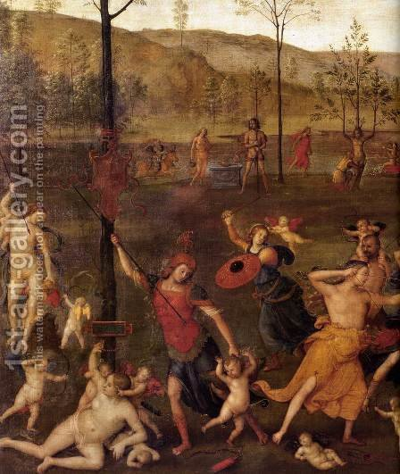 Combat of Love and Chastity (detail) by Alvaro Di Pietro (Pirez D'Évora) - Reproduction Oil Painting