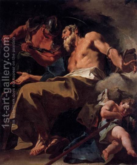 The Torture of St Thomas by Giovanni Battista Pittoni the younger - Reproduction Oil Painting
