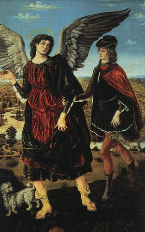 Reproduction oil paintings - Antonio Pollaiolo - Tobias and the Angel