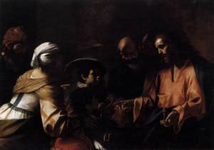 Reproduction oil paintings - Mattia Preti - A Mother Entrusting Her Sons to Christ