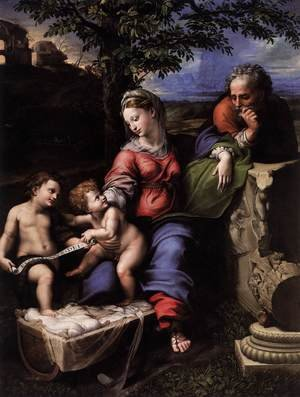 Famous paintings of The Holy Family: Holy Family below the Oak 2