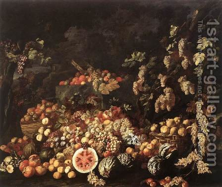 Still-Life with Fruit and Flowers 2 by Giuseppe Recco - Reproduction Oil Painting