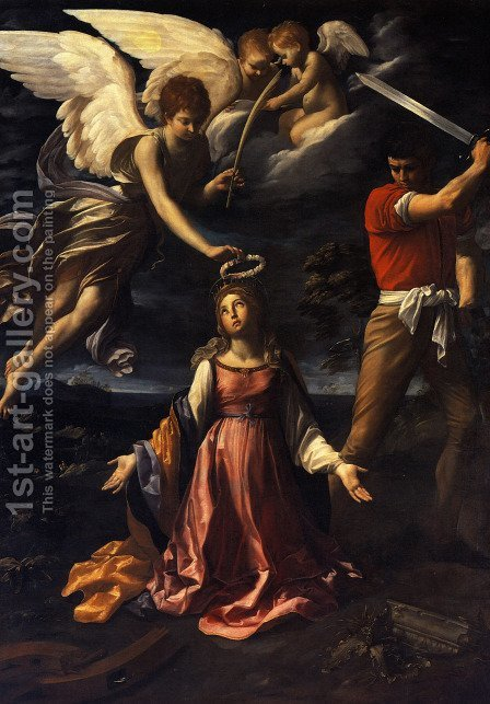 The Martyrdom of St Catherine of Alexandria by Guido Reni - Reproduction Oil Painting
