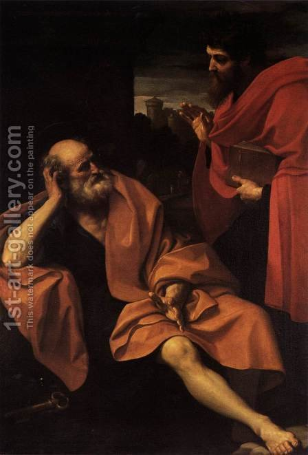 Sts Peter and Paul by Guido Reni - Reproduction Oil Painting