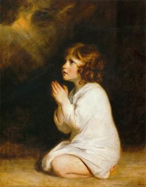 Reproduction oil paintings - Sir Joshua Reynolds - The Infant Samuel