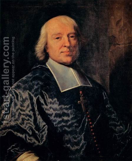 Portrait of Jacques-Benigne Bossuet by Hyacinthe Rigaud - Reproduction Oil Painting