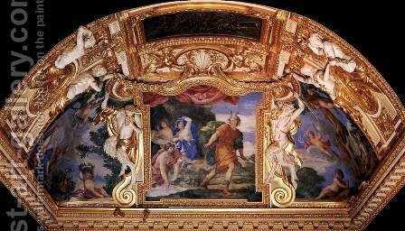 Ceiling decoration by Giovanni Francesco Romanelli - Reproduction Oil Painting