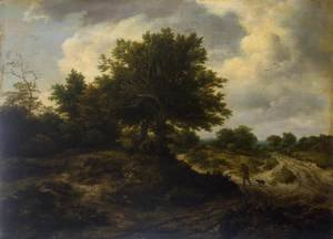 Jacob Van Ruisdael reproductions - Landscape with a Traveller