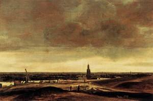 Reproduction oil paintings - Hercules Seghers - View of Rhenen