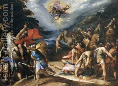 Conversion of St Paul on the Road to Damascus by Hans Speckaert - Reproduction Oil Painting