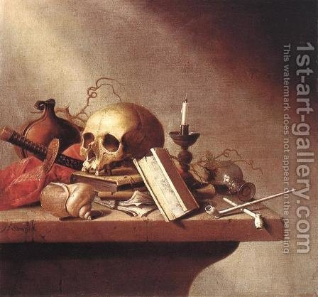 Vanitas by Harmen Steenwijck - Reproduction Oil Painting