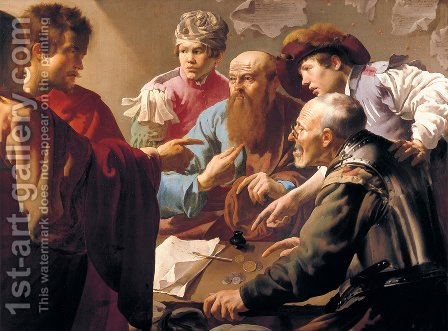 The Calling of St Matthew 2 by Hendrick Terbrugghen - Reproduction Oil Painting