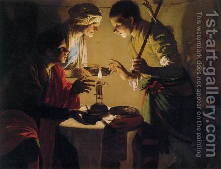 Esau Selling His Birthright 2 by Hendrick Terbrugghen - Reproduction Oil Painting