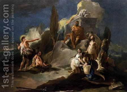 Apollo and Marsyas 2 by Giovanni Battista Tiepolo - Reproduction Oil Painting