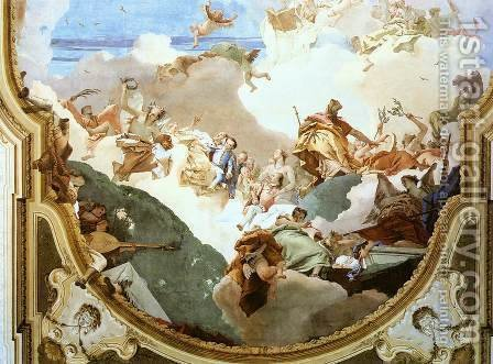 The Apotheosis of the Pisani Family (detail) 2 by Giovanni Battista Tiepolo - Reproduction Oil Painting