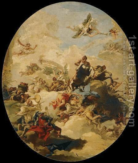 The Apotheosis of Hercules by Giovanni Domenico Tiepolo - Reproduction Oil Painting