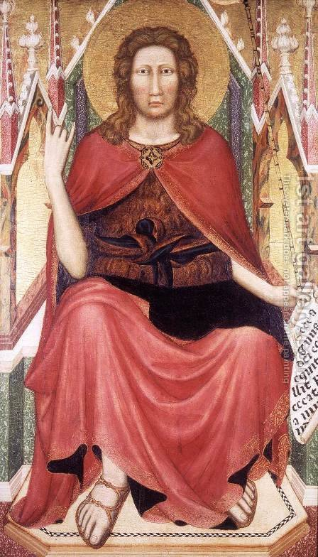 St John the Baptist Enthroned by Italian Unknown Master - Reproduction Oil Painting