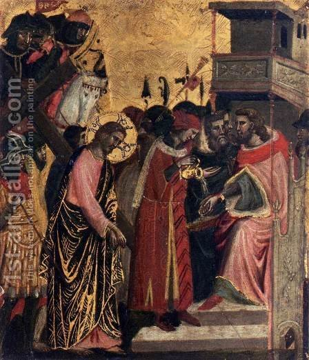 Christ before Pilate by Italian Unknown Master - Reproduction Oil Painting