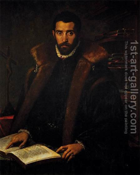Portrait of Torquato Tasso by Italian Unknown Master - Reproduction Oil Painting