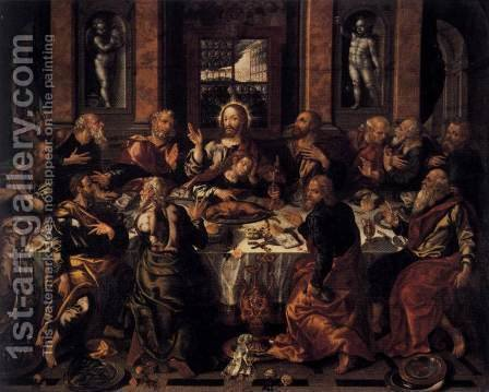 Last Supper by Alonso Vazquez - Reproduction Oil Painting