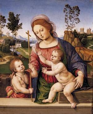 Reproduction oil paintings - Timoteo Viti - Madonna and Child with the Infant St John the Baptist
