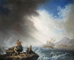 Reproduction oil paintings - Pierre-Jacques Volaire - Ship-Wreck