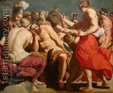 Jupiter Rebuked by Venus by Abraham Janssens - Reproduction Oil Painting