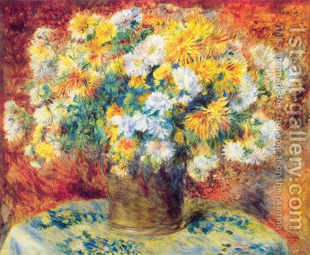 Pierre Auguste Renoir: Chrysanthemums - reproduction oil painting