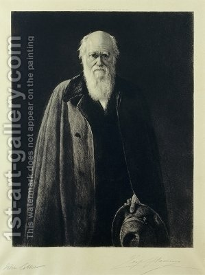 Charles Darwin by (after) Collier, John - Reproduction Oil Painting