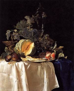 Reproduction oil paintings - Willem Van Aelst - Still Life with Fruit and Crystal Vase 1652