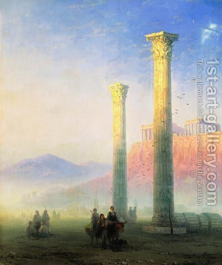 Acropolis of Athens by Ivan Konstantinovich Aivazovsky - Reproduction Oil Painting