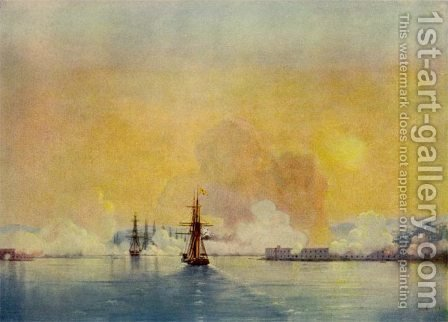 Entrance in the bay of Sevastopol by Ivan Konstantinovich Aivazovsky - Reproduction Oil Painting