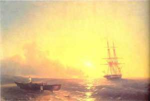 Reproduction oil paintings - Ivan Konstantinovich Aivazovsky - Fishermen on coast of sea