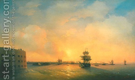 Kronshtadt fort The emperor Alexander by Ivan Konstantinovich Aivazovsky - Reproduction Oil Painting