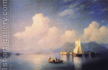 Lake Maggiore in the Evening by Ivan Konstantinovich Aivazovsky - Reproduction Oil Painting
