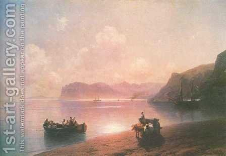 Morning on a sea by Ivan Konstantinovich Aivazovsky - Reproduction Oil Painting