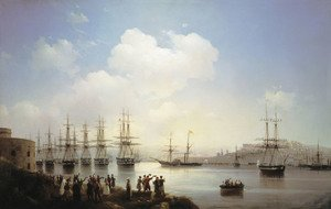 Reproduction oil paintings - Ivan Konstantinovich Aivazovsky - Russian squadron on the raid of Sevastopol