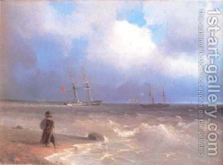 Sea Coast by Ivan Konstantinovich Aivazovsky - Reproduction Oil Painting