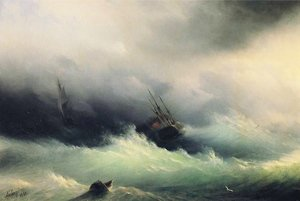 Reproduction oil paintings - Ivan Konstantinovich Aivazovsky - Ships in a Storm