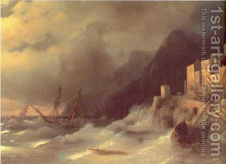 Tempest by Ivan Konstantinovich Aivazovsky - Reproduction Oil Painting