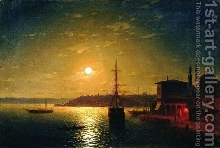 The Bay Golden Horn Turkey by Ivan Konstantinovich Aivazovsky - Reproduction Oil Painting