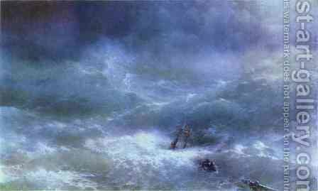 The Billow by Ivan Konstantinovich Aivazovsky - Reproduction Oil Painting