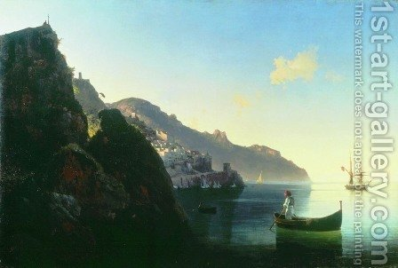 The seashore of Amalfi by Ivan Konstantinovich Aivazovsky - Reproduction Oil Painting