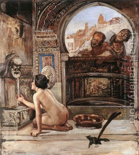 Susanna and the Elders by Gyula Tornai - Reproduction Oil Painting