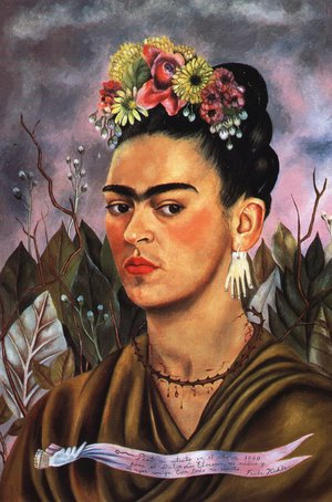 Reproduction oil paintings - Frida Kahlo - Self Portrait Dedicated To Dr Eloesser 1940