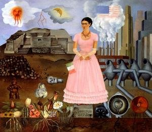 Reproduction oil paintings - Frida Kahlo - Self Portrait On The Borderline Between Mexico And The United States 1932