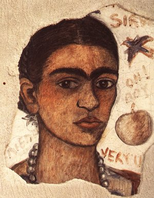 Reproduction oil paintings - Frida Kahlo - Self Portrait Very Ugly 1933