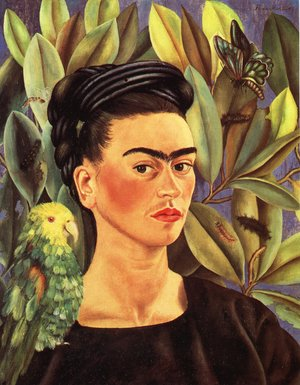 Reproduction oil paintings - Frida Kahlo - Self Portrait With Bonito 1941